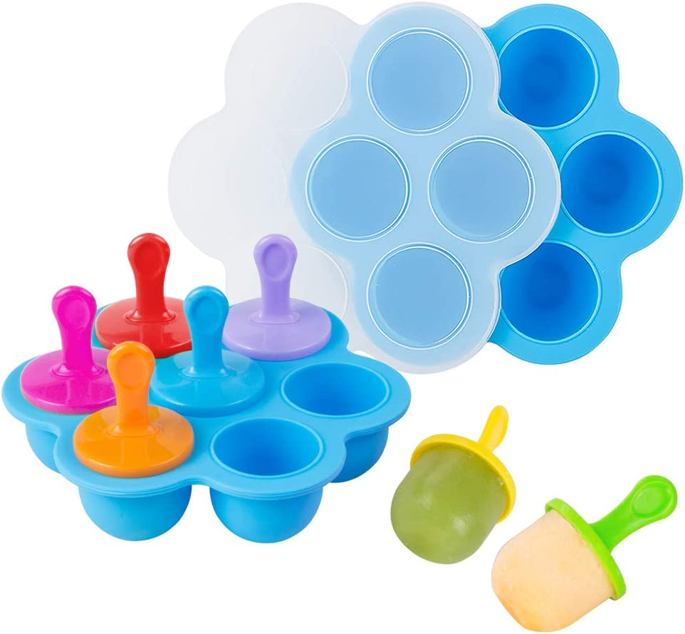 Webake Baby Food Ranking TOP14 Freezer Special price Trays with Lid Silicone Ice Popsi Cube