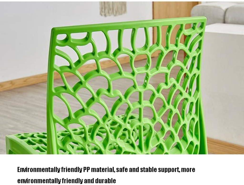 Solide Simple Chaise Bureau étudiant et Chaise de Maquillage Tabouret Retour à la Maison à Manger Chaise d'ordinateur Stable (Color : Green) Black