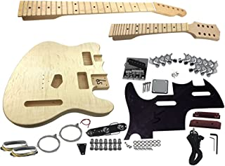 Solo DTCMK-1 DIY Double Neck Guitar Kit With Flame Maple Top