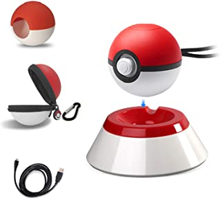 5 in 1 Pokeball Plus Charger Stand Charging Station Holder Fast Charging Cord Cable, Carrying Case, Silicone Cover Pokebal...