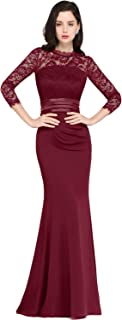 Women's Long Lace Evening Dresses Mermaid Prom Gown
