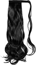 FRCOLOR Curly Ponytail Extension Heat Resistant Synthetic Natural Wavy Hairpiece Wrap