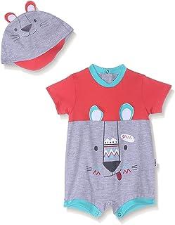 سالوبيت قصير مطبوع بكباسين واكمام قصيرة مع قبعة للرأس للاولاد من لوميكس
