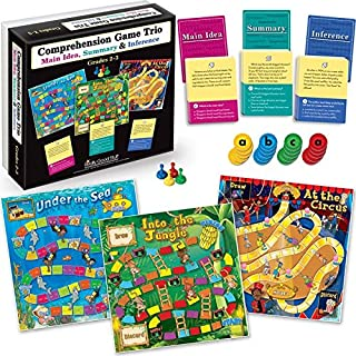 Really Good Stuff Comprehension Game Trio: Main Idea, Summary & Inference - Grades 2-3