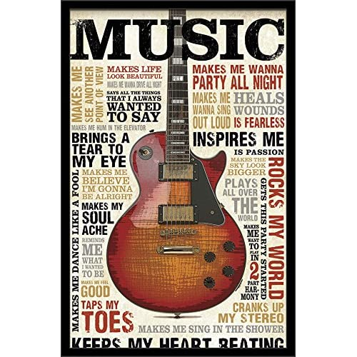 Framed Music Posters: Amazon com