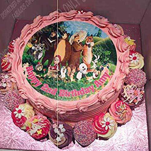 Fabulous Cake Toppers Masha et l'ours personnalisé gâteau Sucre Papier 19,1 cm M2