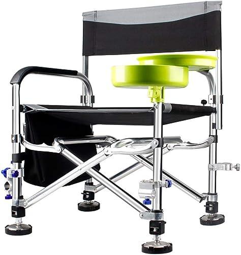 LJFYMX Chaise de pêche Chaise de pêche Pliante Portable Multi-Fonction légère Tabouret de pêche engins de pêche élargissant la Chaise avec accoudoirs Chaise de Camping (Couleur   B)