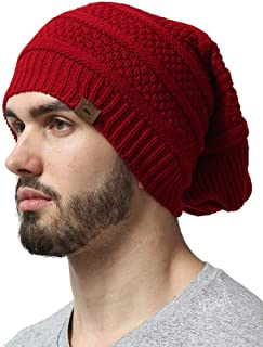 Cable Knit Beanie for Men & Women - Slouchy Winter Toboggan Hats for Cold Weather - Thick, Warm & Stylish Chunky, Oversized Slouch Beanie Cap - Serious Beanies for Serious Style