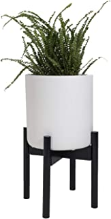 Sona Home Adjustable Mid Century Plant Stand, Available in 3 Sizes, 3 Colors - Modern Plant Stand for Indoor & Outdoor Use...