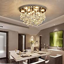 Europese stijl staaldraad opknoping kristal kroonluchter industriële wind eenvoudige slaapkamer woonkamer verlichting pers...