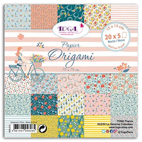 DRAEGER PARIS 1886 100 Carta Origami 15x15 cm Oh, Multicolore