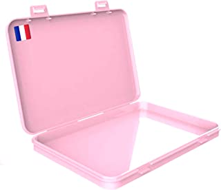ARMONY PARIS Boite Rangement Masque Nouveau Modèle Boite pour Masque Portable Protège de la Poussière et de l'Humidité Con...