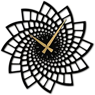 Wallcentre Art Beyond Imagination Metal Wall Clock with Decorative Pattern for Home, Office, Living Room Decor (Black, Siz...