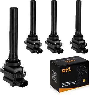 QYL 4Pcs Ignition Coil Pack Replacement for Chevrolet Suzuki Tracker Aerio Esteem Grand Vitara Sidekick Vitara XL-7 V6 UF237 88921380 C1159