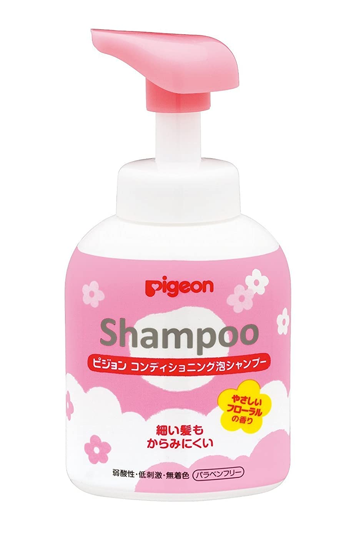 軸結果米国ピジョン コンディショニング泡シャンプー やさしいフローラルの香り 350ml