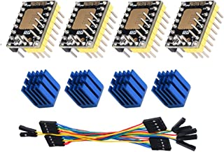 5 Pack FYSETC 3D Printer Stepper Driver ST820 Stepstick Motor Driver Module Stepping Smallest 45V Microstepping Peak Current 2.5A RMS Current 1.5A Suitable Board RAMPS VS TMC2130 with Heatsink