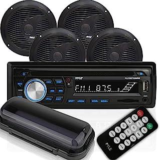 Pyle Bluetooth Marine Audio Stereo Kit [Radio Receiver & Waterproof Speakers] Hands-Free Talking, CD Player, MP3/USB/SD Re...