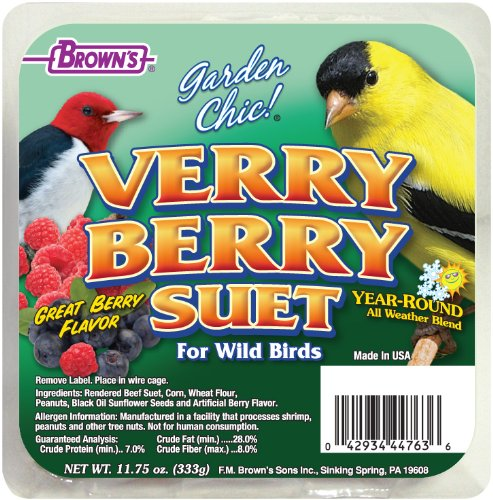F.M. Brown's, Garden Chic Suet and Bread Cakes, 11-3/4-Ounce Verry Berry by F.M. Brown's