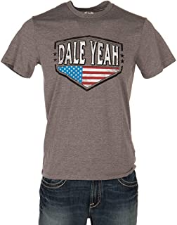 Rock and Roll Cowboy Mens Dale Yeah Grey Tee