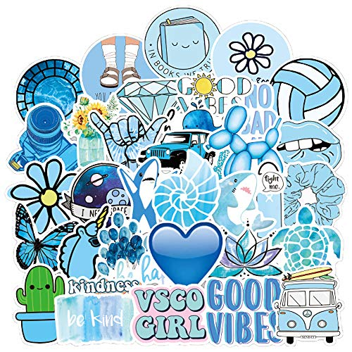 Cute Vsco Aesthetic Stickers [50PCS]- Vinyl Aesthetic Cute Waterproof Stickers for Laptops Water Bottle, Suitable for Kids, Girls, Teens, Women