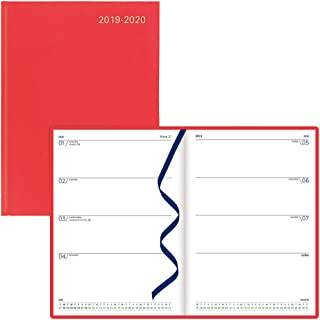 Letts 2019-2020 Principal, Weekly Appointment Book/Academic Planner, A5 Week to View Diary, July 2019 to August 2020, Red, 8.25 x 5.875 Inches (C39XRD-20)