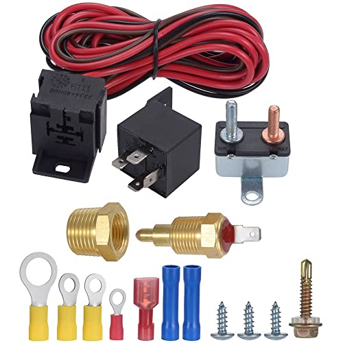 TURN RAISE 175-185 Degree Engine Electric Cooling Fan Thermostat Kit Temp Sensor Temperature Switch