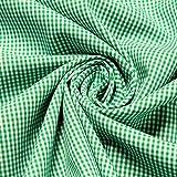 Stoff am Stück Stoff Baumwolle Vichy Karo klein grün