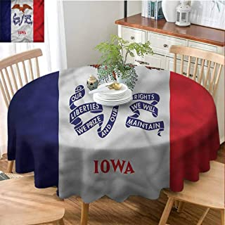 American Restaurant tableclothState Iowa Liberty Eagle Easy Care D60