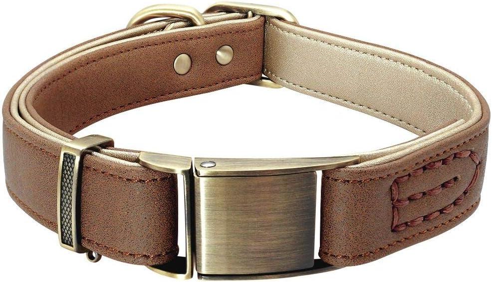 Columbus Mall Dog Collar Durable free Comfy Adjustable Brown Stylish Pet