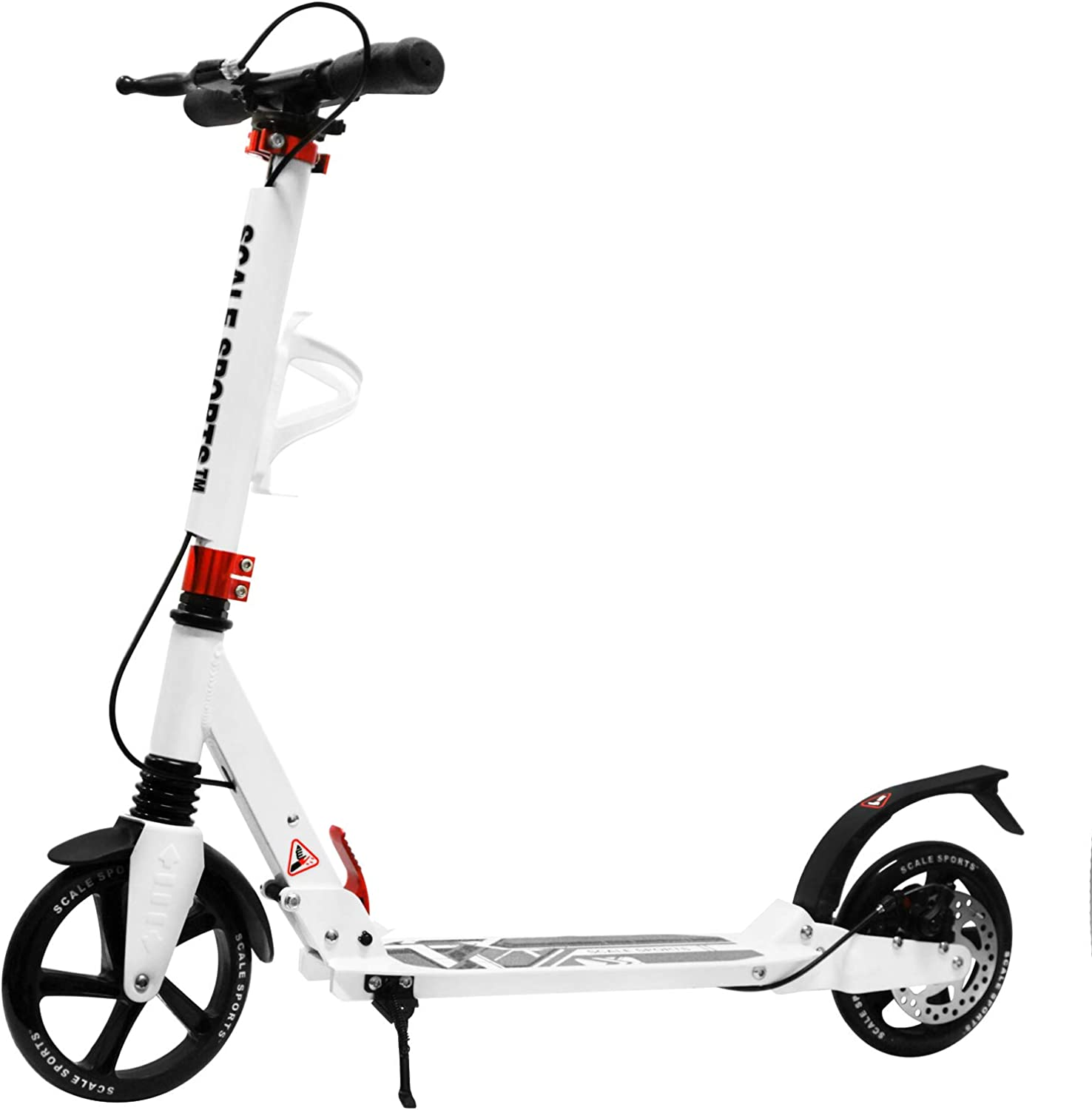 Scale Sports Adult Kick Scooter Portable Lightweight Adjustable Suspension Disc Hand Brake