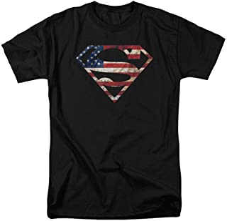 Popfunk Superman Logo S Shield American Flag T Shirt & Exclusive Stickers