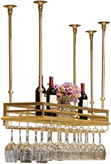 ZHXYY Organiser la Cuisine en Acier Inoxydable doré casier à vin Hauteur réglable, Porte-Verre à vin Suspendu Multifonctio...