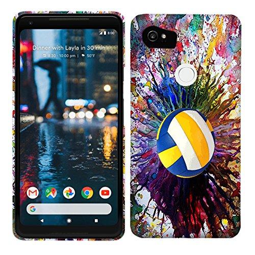 Google Pixel 2XL/Pixel XL 2Fall–Vintage Farbe Volleyball Hartschale Kunststoff Back Cover. Slim Profil Cute Bedruckt Designer Schutzhülle Zum Aufstecken von Glisten