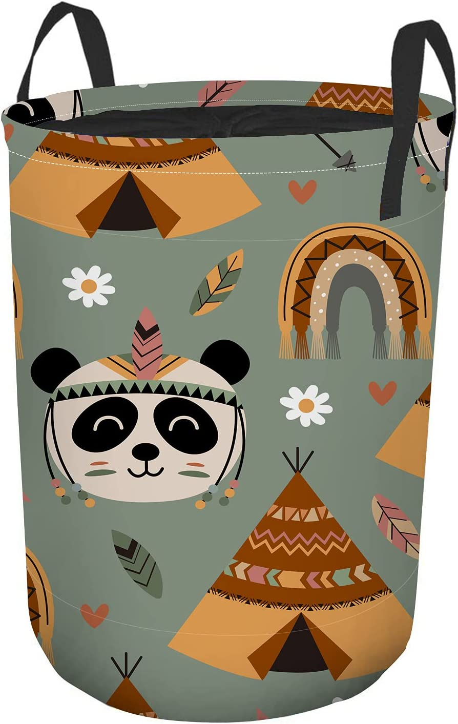 Max 89% OFF Nicokee Round Online limited product Tunic Dirty Pocket Panda Tribal Cartoon Cute Tent