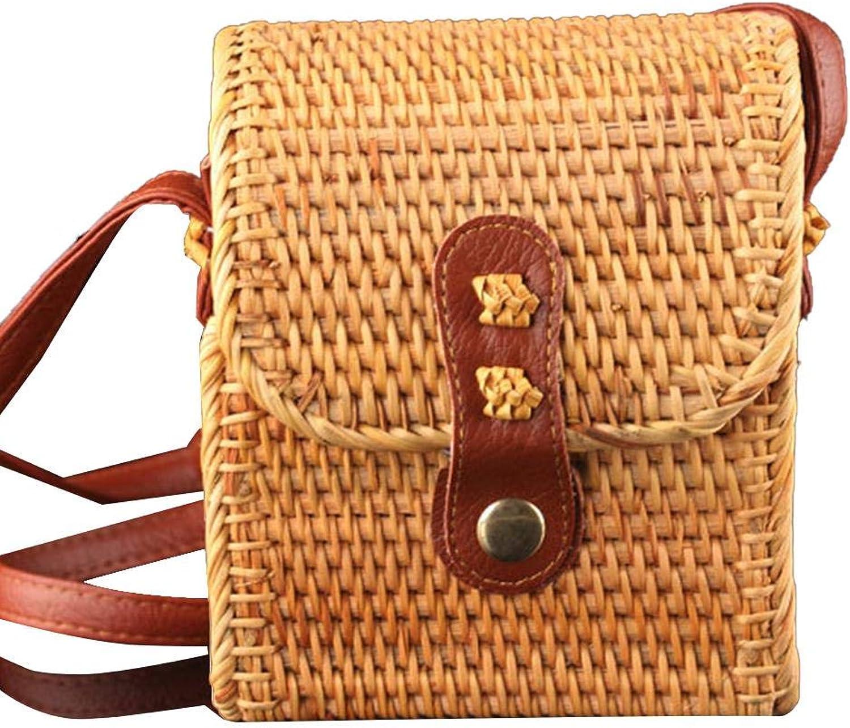 291f74a0322d Bag Crossbody Bags for Women,Hand Woven Women's Rattan Bag Beach ...