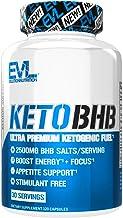 Evlution Nutrition Keto BHB, Premium Triple Strength Ketogenic Fuel, 2500MG BHBs, Appetite Support, Stimulant Free, Gluten...