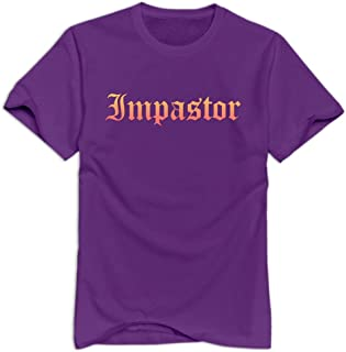 Imposter Joke Casual Purple T Shirts For Men's Size XL