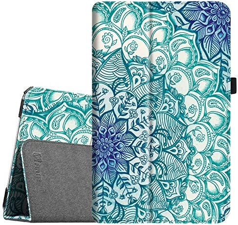 Fintie Folio Case for Samsung Galaxy Tab E 9.6 - Slim Fit Premium Vegan Leather Cover for Tab E/Tab E Nook 9.6-Inch Tablet (SM-T560/T561/T565 & SM-T567V Verizon 4G LTE Version), Blossom