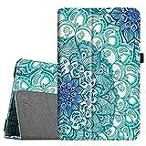 Fintie Folio Case for Samsung Galaxy Tab E 9.6 - Slim Fit Premium Vegan Leather Cover for Tab E/Tab E Nook 9.6-Inch Tablet (SM-T560/T561/T565 & SM-T567V Verizon 4G LTE Version), Emerald Illusions