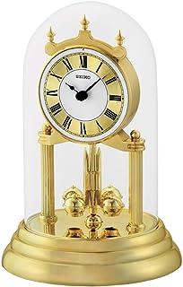 Seiko Anniversary Clock with Rotating Pendulum, Gold, 28 x 18 x 19 cm