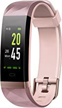 Letsfit Fitness Tracker HR, Activity Tracker Watch, Smart Fitness Band with Heart Rate Monitor, IP68 Waterproof, Step Calorie Counter, Pedometer, Compatible with iOS and Android Phones, Women Men