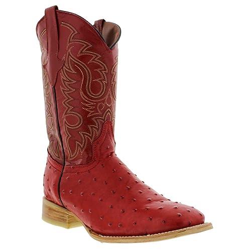 56d47d713da Men's Red Cowboy Boots: Amazon.com