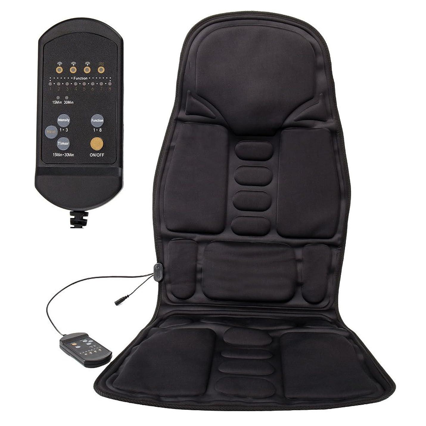 LoveStory マッサージシート シートマッサージャー カーシートカバー マッサージ器 座椅子用 高品質PUレザー製車載用ツインバードマッサージシート ヒーターマッサージ 5機能5もみ玉付き 汎用 椅子や座椅子用 持ち運び便利 取り付け簡単 敬老の日 プレゼント
