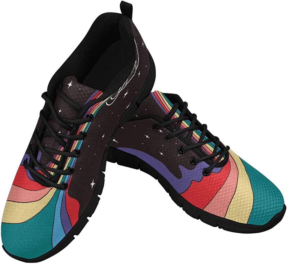 INTERESTPRINT Hand Drawn Colorful Can of Paint Women's Walking Shoes Lightweight Casual Running Sneakers