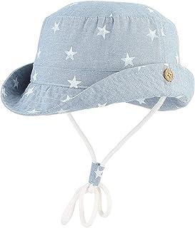 f68a72f33 Verano Sombrero Infantil con ala Tipo de Pescador Algodón Gorra Protección  de Sol Estampado de Estrellas