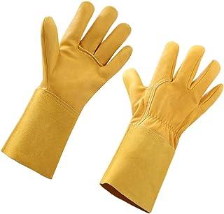 STEKETO Thorn Proof Rose Pruning/Cactus T Goatskin Gardening Gloves Long Forearm Protection Yard Work Gauntlet
