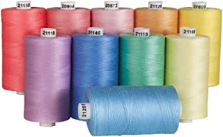 Connecting Threads 100% Cotton Thread Sets - 1200 Yard Spools (Saltwater Taffy)