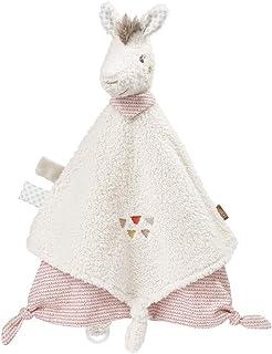 Fehn 058093 Lama deluxe täcke – mjuk dummy med lama huvud och dummy-fäste – inbjuder till att känna och utforska – för spä...