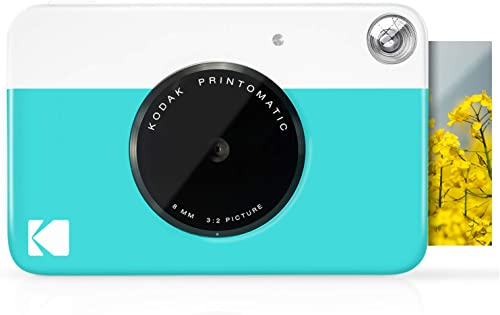 """wholesale KODAK Printomatic Digital Instant discount Print Camera - Full online sale Color Prints On ZINK 2x3"""" Sticky-Backed Photo Paper (Blue) Print Memories Instantly online"""
