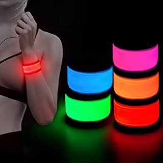 HiGuard LED Armband, Light Up Glowing Slap Bracelets Glow in The Dark Sports Wristband, High Visible Safety for Cycling/Bi...